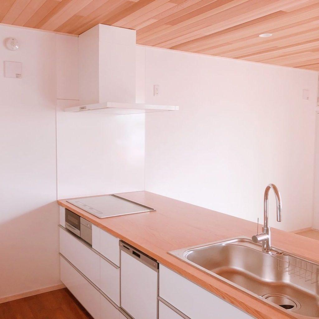 洗練されたナチュラルなキッチン・設置例1